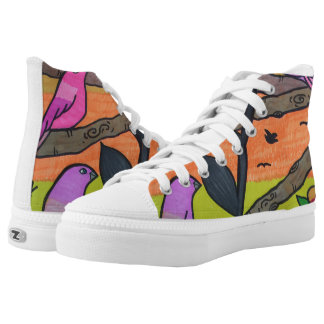 Sunset Birds Printed Shoes
