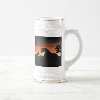 'Sunset Birth' Horse Collection Beer Steins