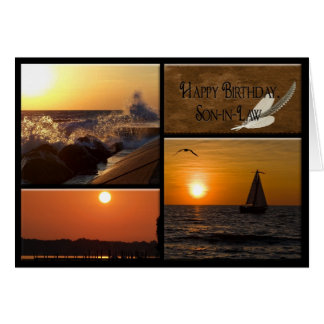 Sunset Birthday for Son-in-law Greeting Card