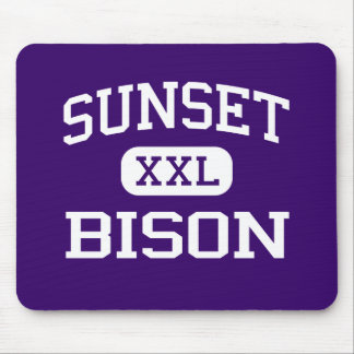 Sunset - Bison - Sunset High School - Dallas Texas Mouse Pad