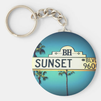 Sunset Blvd. Keychain
