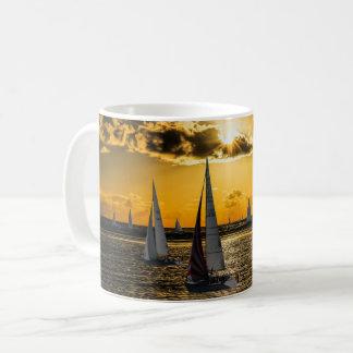 Sunset - Boats Coffee Mug