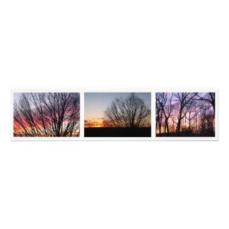 "Sunset, Boston off Corey Street, 30x7.5"" Photo"