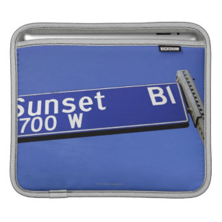 Sunset Boulevard sign against a blue sky iPad Sleeve