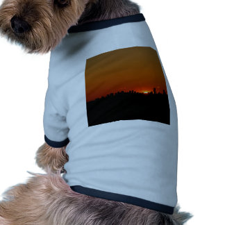 Sunset Bright Red Doggie Tshirt