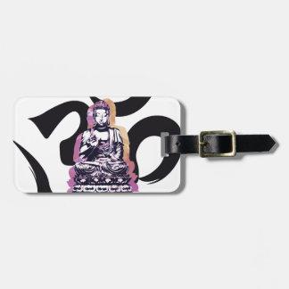 Sunset Buddah Ohm Luggage Tag
