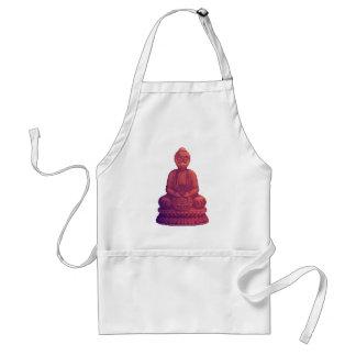 Sunset Buddha Pixel Art Adult Apron