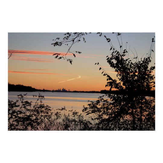 Sunset by the Delaware Poster