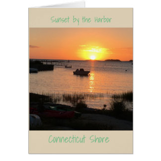 Sunset By The Harbor Card
