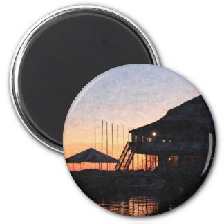 sunset by the lake , Kingston, Ontario,at twilight Refrigerator Magnets
