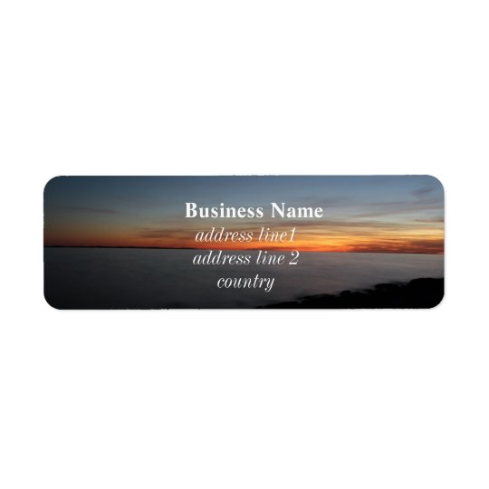 sunset by the lake, Kingston, Ontario, Canada Return Address Label