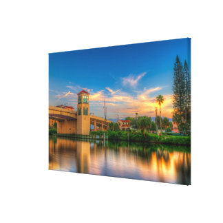 Sunset by the North Bridge Canvas Print