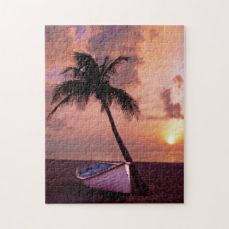 Sunset by the Palm 11x14 Jigsaw Puzzle