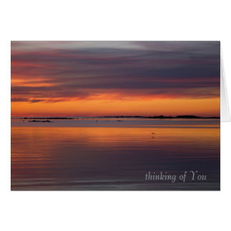 Sunset by the sea CC0158 Sympathy Card