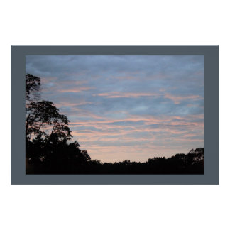 Sunset by Trees Photo Poster