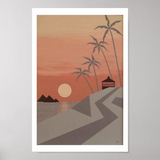 """SUNSET CABANA print (8""""x12"""")"""