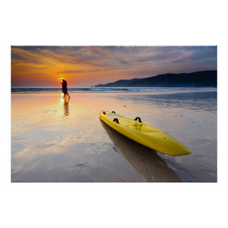 Sunset,California Beach USA Poster