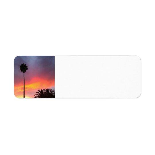 Sunset California Return Address Label