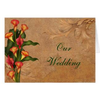 Sunset Calla Lilies Wedding Invitation Greeting Card