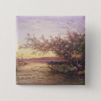 Sunset, Camargue 15 Cm Square Badge