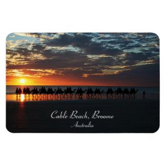 Sunset Camel Ride, Broome, Western Australia Rectangular Photo Magnet
