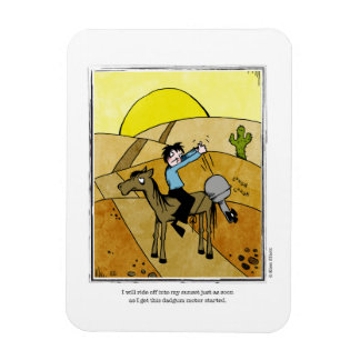 SUNSET cartoon by Ellen Elliott Rectangular Photo Magnet