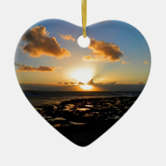 Sunset Ceramic Heart Decoration