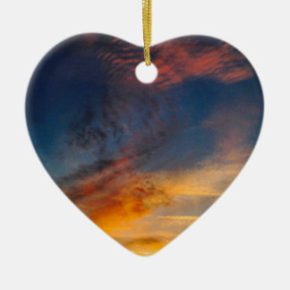 SUNSET CERAMIC HEART DECORATION
