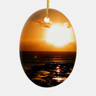 Sunset Ceramic Oval Decoration