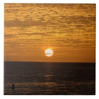 Sunset ceramic photo tile