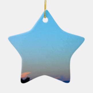 Sunset Ceramic Star Decoration