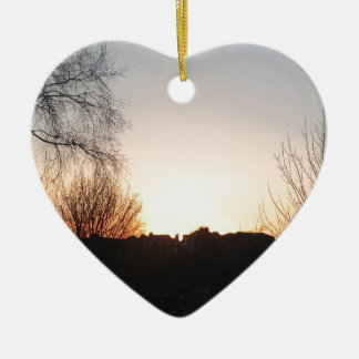 Sunset Christmas Ornament