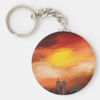 Sunset Cityscape by Nicole Whittaker Key Chains