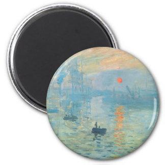 Sunset - Claude Monet 6 Cm Round Magnet