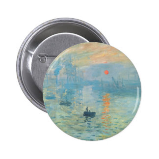 Sunset - Claude Monet 6 Cm Round Badge
