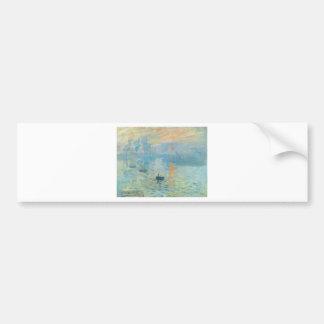 Sunset - Claude Monet Car Bumper Sticker