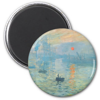 Sunset - Claude Monet Magnet