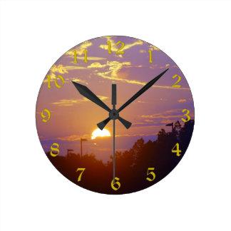 Sunset Clock(Medium) Round Clock