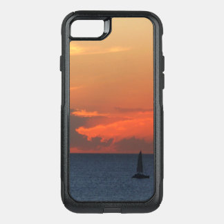 Sunset Clouds and Sailboat Seascape OtterBox Commuter iPhone 8/7 Case