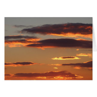 Sunset clouds greeting card blank inside