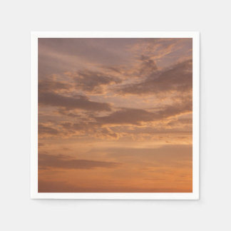 Sunset Clouds IV Pastel Abstract Nature Photograph Paper Serviettes