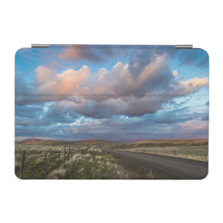 Sunset Clouds Over Gravel Zumwalt Prairie Road iPad Mini Cover