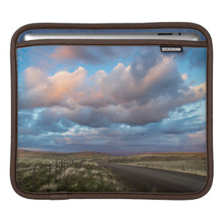 Sunset Clouds Over Gravel Zumwalt Prairie Road iPad Sleeve