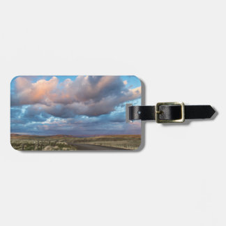 Sunset Clouds Over Gravel Zumwalt Prairie Road Luggage Tag