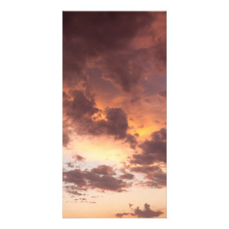 Sunset Clouds Customized Photo Card