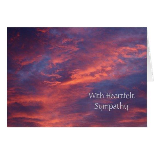 Sunset Clouds Sympathy Card