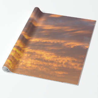 Sunset Clouds Wrapping Paper