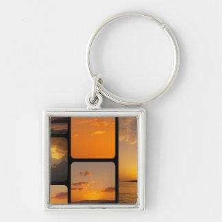 Sunset Collage Keychain