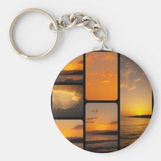 Sunset Collage Keychains
