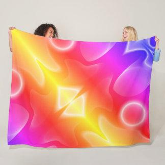 Sunset-colored shapes fleece blanket